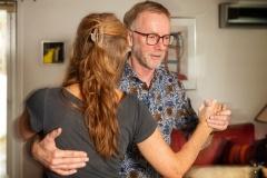 Min passion om tango – Knud Johansen og hans dansepartner, Annie fra Thisted, danser tange i foreningen La Luna. Knud underviser også samme sted. Torsdag 5. november 2020. Foto: Mads Dalegaard