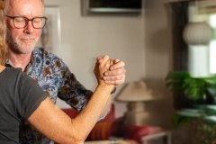 Min passion om tango ??? Knud Johansen og hans dansepartner, Annie fra Thisted, danser tange i foreningen La Luna. Knud underviser ogssamme sted. Torsdag 5. november 2020. Foto: Mads Dalegaard